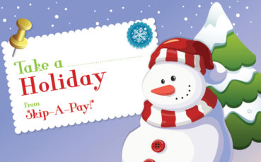 Take a Holiday from your Loan Payment
