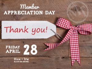 Thank You Member Appreciation Day