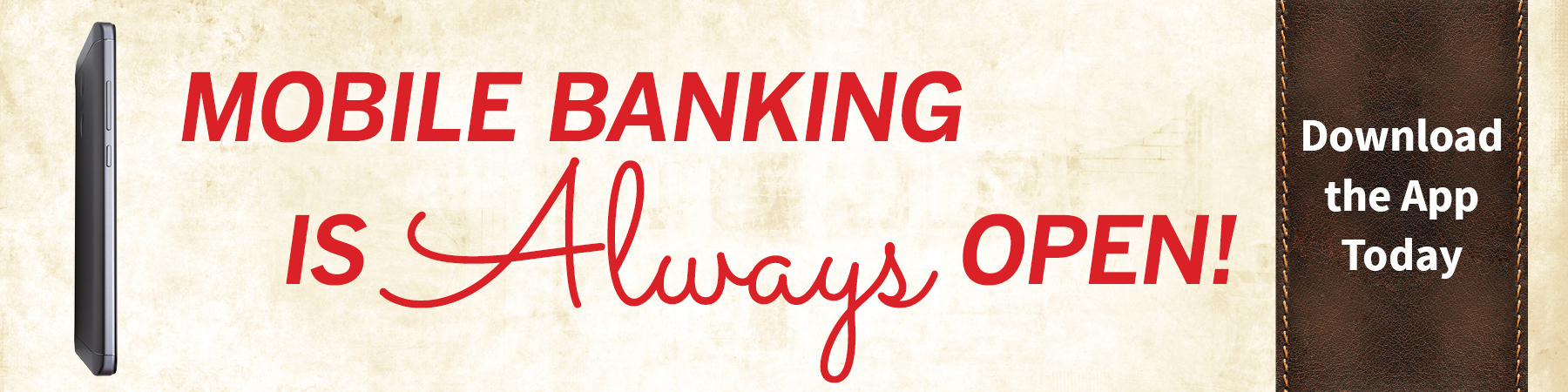 Mobile Banking is Always Open