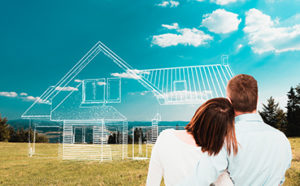 couple looking at a dream home