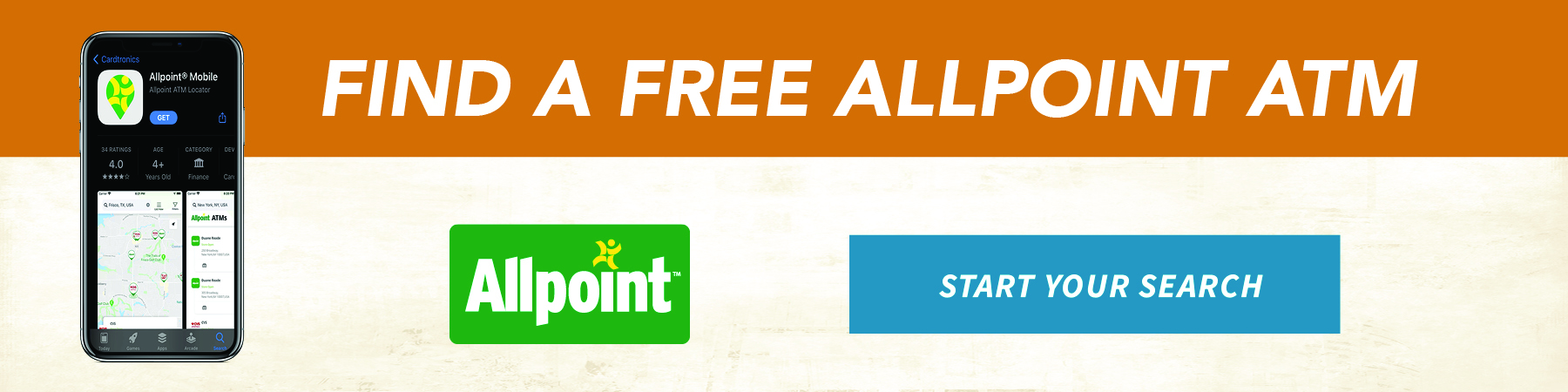 Find a Free Allpoint ATM Location